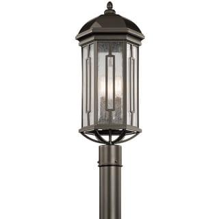 Kichler Lighting Gilmore Collection 3-light Olde Bronze Outdoor Post Mount