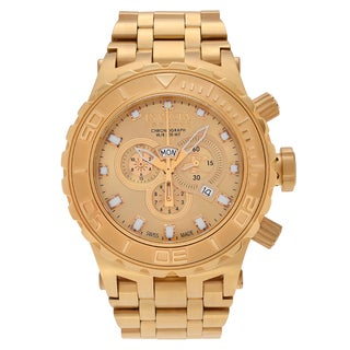 Invicta Men's 6901 'Subaqua' Blemished Goldtone Stainless Steel Chronograph Dial Link Bracelet Watch