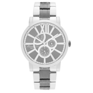 Kenneth Cole Men's KC9282 Blemished Two Tone Stainless Steel Gray Multifunction Dial Link Bracelet Watch