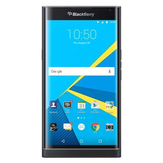 BlackBerry PRIV STV100-1 AT&T Unlocked 4G LTE Hexa-Core Phone w/ 18MP Camera - Black (Certified Refurbished)
