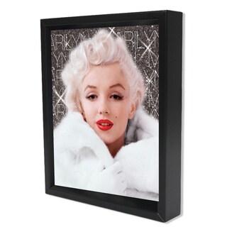 Marilyn Monroe -White Coat - 8x10 3D Shadowbox by Pyramid America