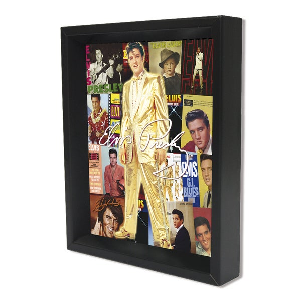 Shop Elvis Albums 8x10 3d Shadowbox By Pyramid America Free