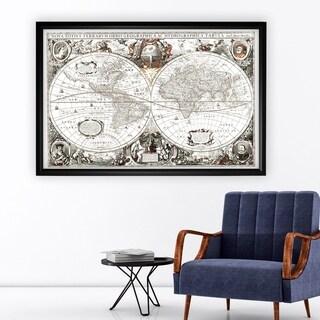Treasue Map - Black Frame