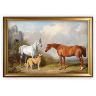 Vintage Horse Pastoral - Gold Frame