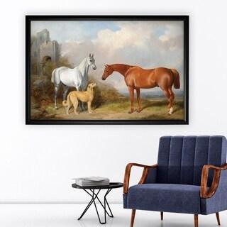 Vintage Horse Pastoral - Black Frame