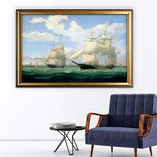 Ships at Sea III - Gold Frame