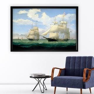 Ships at Sea III - Black Frame
