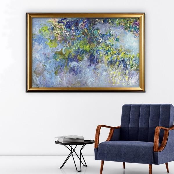 Wisteria -Claude Monet - Gold Frame