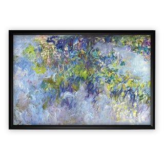 Wisteria -Claude Monet - Black Frame