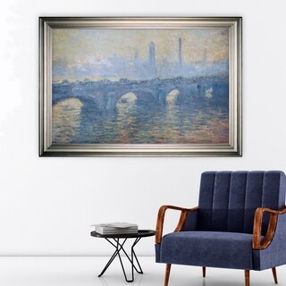 Waterloo-Bridge -Claude Monet -Silver Frame