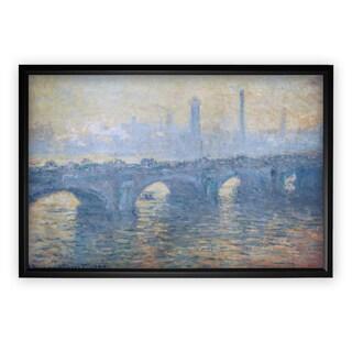 Waterloo-Bridge -Claude Monet - Black Frame
