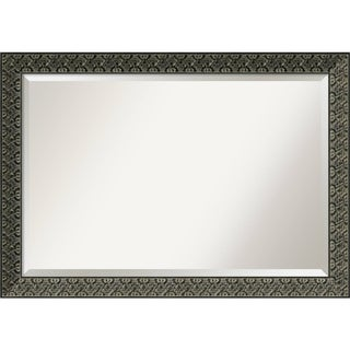 Wall Mirror Extra Large, Intaglio Embossed Black 41 x 29-inch - Black/Gold