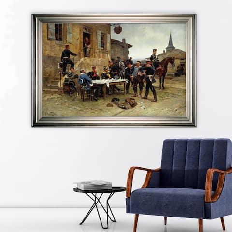 The-Spy -by Adolphe-de-Neuville -Silver Frame