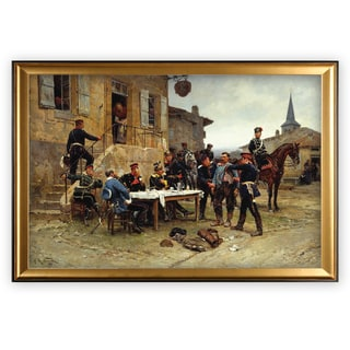 The-Spy -by Adolphe-de-Neuville - Gold Frame