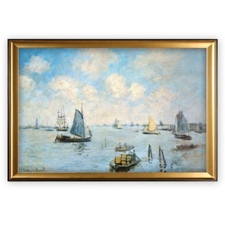 Sea-at-Le-Havre -Claude Monet - Gold Frame