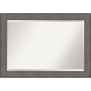 Wall Mirror Extra Large, Country Barnwood 42 x 30-inch - Grey