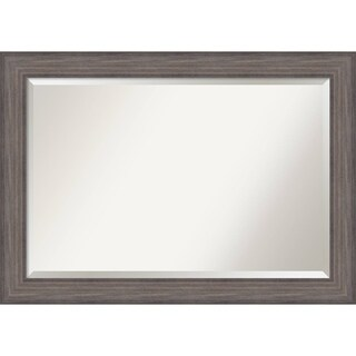 Wall Mirror Extra Large, Country Barnwood 42 x 30-inch - Grey - extra large - 42 x 30-inch