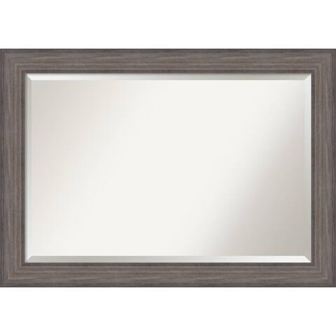 Wall Mirror Extra Large, Country Barnwood 42 x 30-inch - extra large - 42 x 30-inch