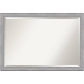 Wall Mirror Extra Large, Graywash 40 x 28-inch - Grey - extra large - 40 x 28-inch