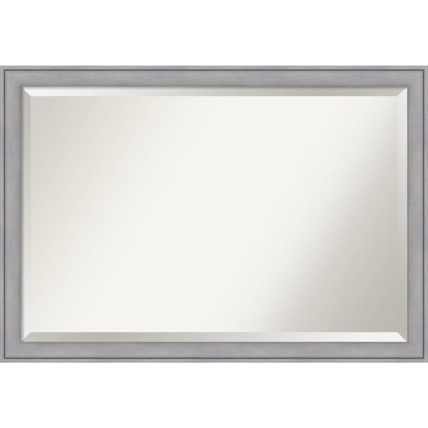 Wall Mirror Extra Large, Graywash 40 x 28-inch - Grey