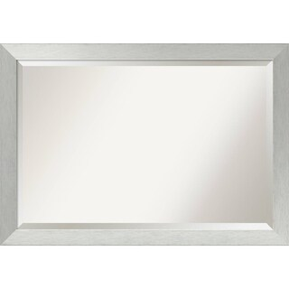 Wall Mirror Extra Large, Brushed Sterling Silver 40 x 28-inch - extra large - 40 x 28-inch