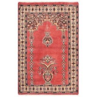 Herat Oriental Pakistani Hand-knotted Bokhara Wool Rug (2'7 x 3'10)
