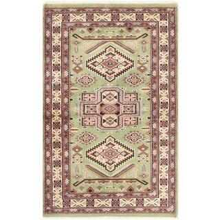 Herat Oriental Pakistani Hand-knotted Bokhara Wool Rug (2'6 x 3'11)