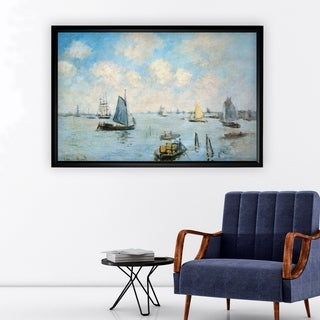 Sea-at-Le-Havre -Claude Monet - Black Frame