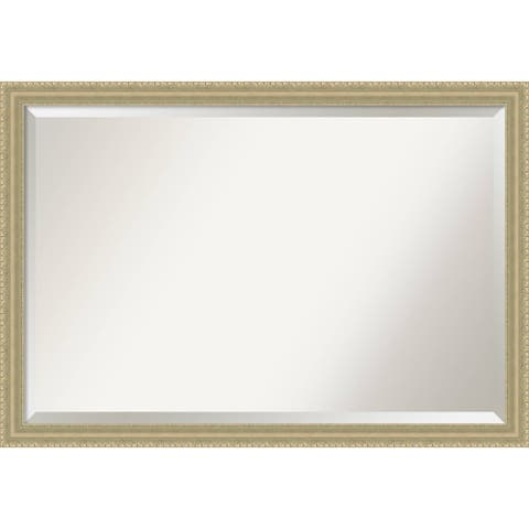 Wall Mirror Extra Large, Champagne Teardrop 39 x 27-inch - extra large - 39 x 27-inch