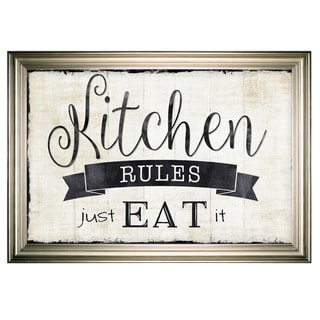 Just Eat It -Silver Frame