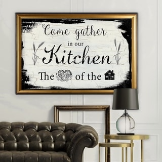 Come Gather - Gold Frame