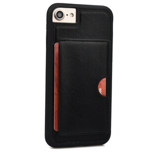Slim TPU and Synthetic Leather Card Case for Apple iPhone 6, 6S, 7 (4.7 Inch)