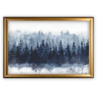 Indigo Forest - Gold Frame