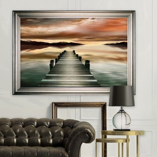 Sunset Jetty -Silver Frame