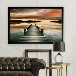 Sunset Jetty - Black Frame