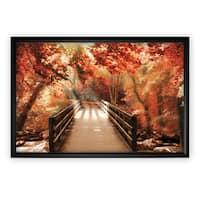 Autumn Bridge - Black Frame