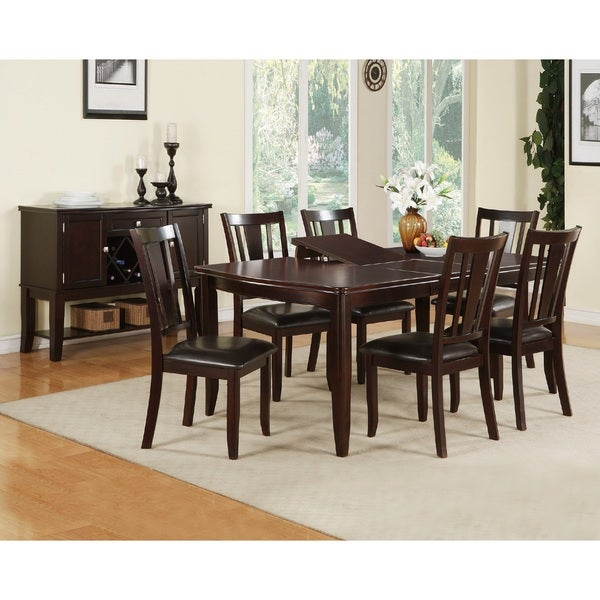 7 piece dining set with leaf contemporary kidd piece dining set shop free shipping today overstockcom