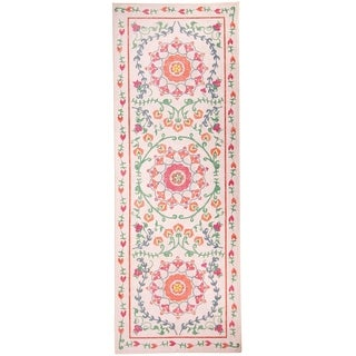 """RUGGABLE Washable Indoor/ Outdoor Stain Resistant Runner Rug Suzi Coral (2'6"""" x 7')"""