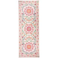 "RUGGABLE Washable Stain Resistant Runner Rug Suzi Coral - 2'6"" x 7'"