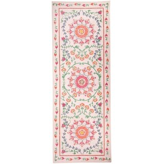 "RUGGABLE Washable Indoor/ Outdoor Stain Resistant Runner Rug Suzi Coral (2'6 x 7') - 2'6"" x 7'"
