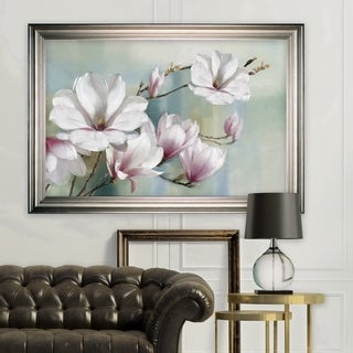 Magnolia Blooms -Silver Frame