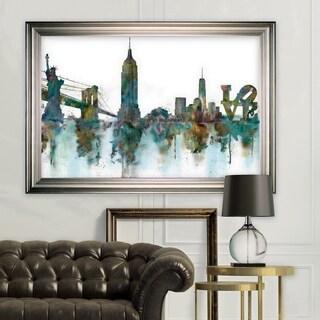 NY Skyline -Silver Frame