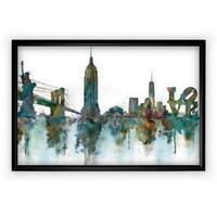 NY Skyline - Black Frame