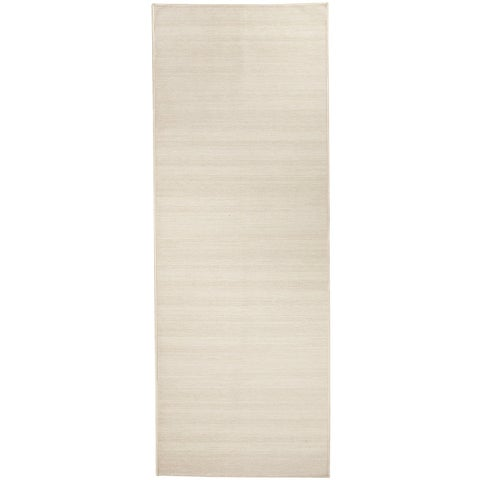 "RUGGABLE Washable Stain Resistant Runner Rug Solid Textured Cream - 2'6"" x 7'"