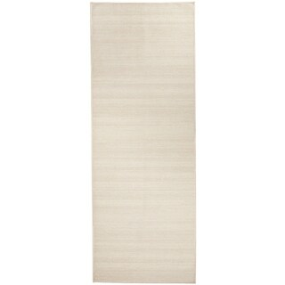 RUGGABLE Washable Indoor/ Outdoor Stain Resistant Runner Rug Solid Textured Cream