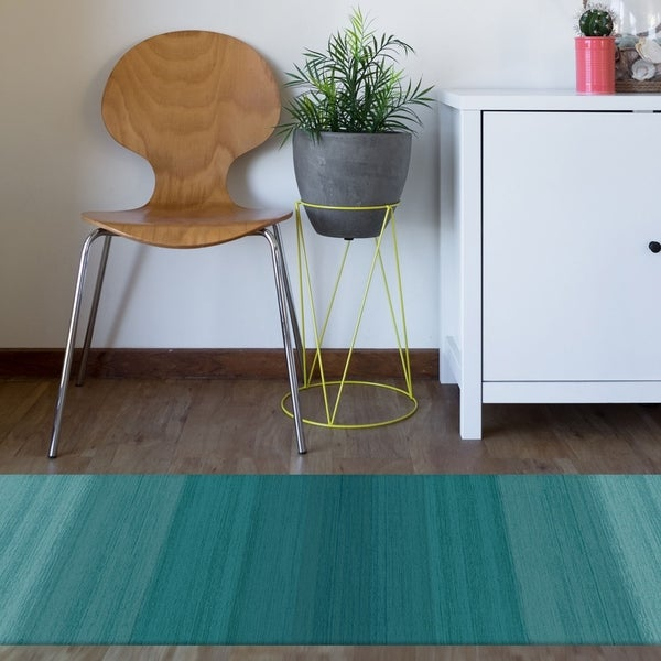 RUGGABLE Washable Indoor/Outdoor Stain Resistant Runner Rug Ombre ...