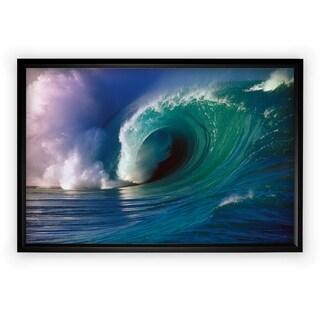 Waimea Bay Wave - Black Frame