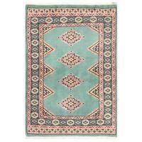 Handmade Herat Oriental Pakistani Bokhara Wool Rug (Pakistan) - 2' x 2'11