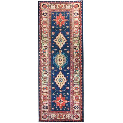 """RUGGABLE Washable Stain Resistant Runner Rug Noor Sapphire - 2'6"""" x 7'"""