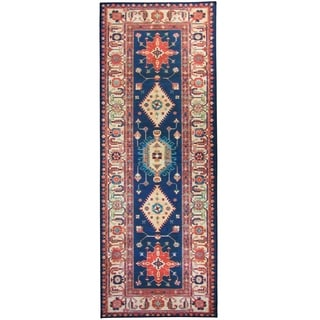 "RUGGABLE Washable Indoor/ Outdoor Stain Resistant Runner Rug Noor Sapphire (2.5' x 7') - 2'6"" x 7'"